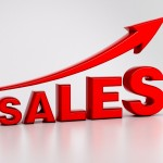 Sales with arrow