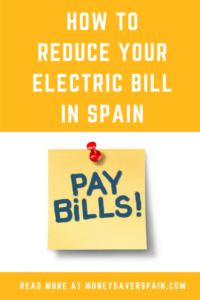 How to Reduce your Electric Bill in Spain