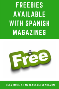 Freebies Available with Spanish Magazines
